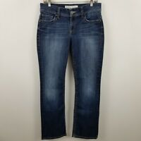 BKE Denim Buckle Harper Womens Boot Cut Dark Wash Blue Jeans Sz 29r - 29 x 31.5