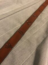 Hand Stamped Western Cowboy Themed Childs Leather Belt