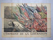 Affiche EMPRUNT DE LA LIBERATION GUERRE 1914/1918 Abel Faivre Litho LAPINA Creté