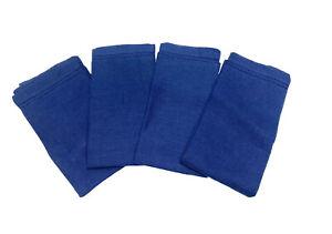 WILLIAMS SONOMA Blue Linen Napkins Set of 4