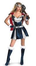 Ladies Sexy Super Hero/Viking/Thor Costume 3 Pce Dress Belt & Sleeves Size 8-12