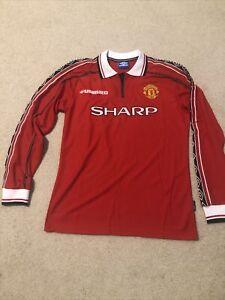 Manchester United Retro Sharp Jersey #7 Beckham Men's XL