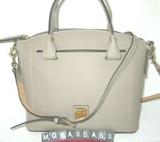 Dooney & Bourke Domed Satchel LT Taupe Leather Bbecn1469xdxd