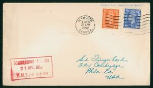 Mayfairstamps Great Britain 1952 HMS Sidon Paquebot Cover wwp81917