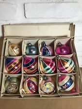 1950s Vintage Glass Christmas Tree Decorations, With Conclaves