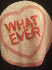 "Markus Lupfer Adorable ""whatever"" Candy Heart Intarsia Sweater Euc Small"