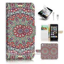 ( For iPhone SE / 5S ) Wallet Case Cover P2584 Secret Garden
