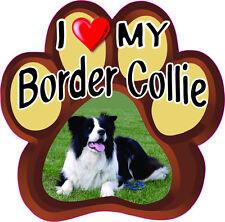 I LOVE MY BORDER COLLIE CUTE DOG Bumper Sticker PAW #168