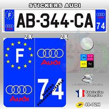 Stickers Plaque D'immatriculation Logo Audi - 4 pièces 45x100 mm