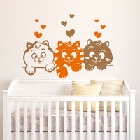 01038 Wall Stickers Sticker Adesivi Murali Decorativi Gattini curiosi 80x57cm