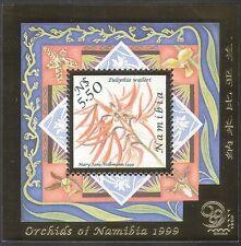 Namibia 1999 Orchidee/Fiori/Piante/stampex/Oro metallizzato in rilievo 1v M/S (b903)