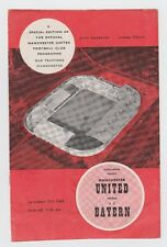 Orig.PRG   21.11.1960   MANCHESTER UNITED - BAYERN MÜNCHEN  !!  SEHR SELTEN