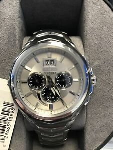 Seiko SSC627 Coutura Chronograph Solar Powered Silver Dial Men's Watch