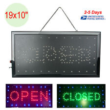 "Bright Animated LED Open Store Shop Business Sign 19x10"" neon Display Lights USA"