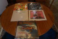 5 rock vinyl records lp lot