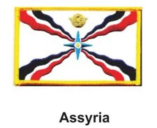 """ASSYRIA FLAG EMBROIDERED PATCH - IRON-ON - NEW 2.5 x 3.5"""" FREE SHIPPING"""