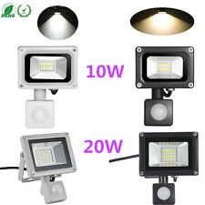 10W 20W 220V Warm/Cool White LED Flood Light+PIR Motion Sensor Security Lamp