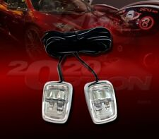 2 X TWIN COLOR BLUE & WHITE LED EXTERIOR ACCENT LIGHT FOR CHRYSLER DODGE