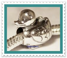 NEW! RETIRED Authentic Pandora DUCK Charm Bead, 925 Sterling Silver ALE #790955