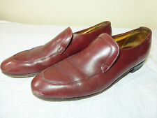 MENS VINTAGE HARTT'S BY DACK'S RED WINE LEATHER LOAFER SHOES - SIZE 10C
