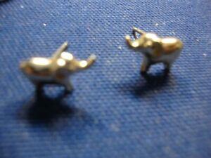 GRANDMAS ESTATE 925 STERLING SILVER ELEPHANT EARRINGS