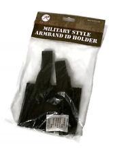 ID Armband Holder Black Identification Uniform Card Pass School Duty Military