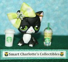 🌺Littlest Pet Shop🌺 Lps Black Angora Kitty Cat Green Eyes #55
