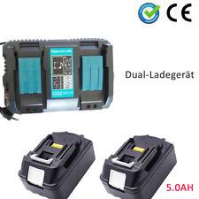 2x18V 5.0Ah Makita Batterie BL1850 BL1850 B 194205-3 LXT400+Double Chargeur FR