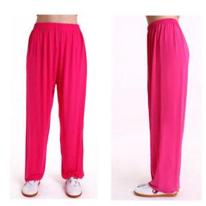 Chinese Taichi Pants Mens Women YOGA Kung Fu Martial Arts Sport Casual Trousers