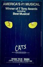 CATS Original Promo Theatre Poster 1989 Andrew Lloyd Webber T.S. ELIOT Musical