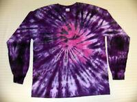 Tie Dye T Shirt Long Sleeve Adult Youth Spiral Tye Die Cotton S M L XL 2XL 3XL