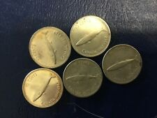 1967 Canadian Silver Dime Lot (5) Coins (50% Silver) Silver Coin Lot