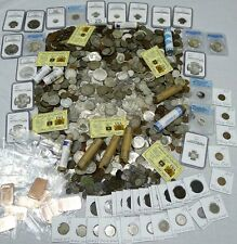 70+ Coins From Estate! Silver,Ngc,Pcgs,Proof,Anc ient,Wwii,Error,100 Years!