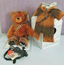 SOLD OUT BUILD A BEAR STAR WARS CHEWBACCA + 5-IN-1 SOUND,BOWCASTER,SLEEPER BNWT