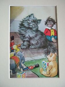 Vintage 1960s  Ladybird Book PUPPIES and KITTENS  Print in Mount # 6