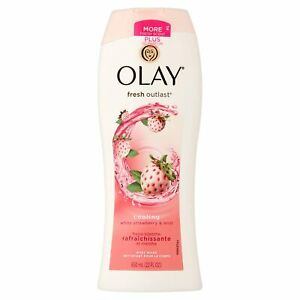 Olay Fresh Outlast Cooling White Strawberry & Mint Body Wash, free shipping