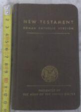 NEW TESTAMENT ROMAN CATHOLIC VERSION - 1942 - By U.S. Army - Gospels