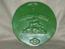 Vintage Cast Iron John Deere Moline ILL. Corn Planter Lid, Mancave Sign, 3 Avail