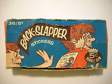 1967 BACK-SLAPPER STICKERS DISPLAY BOX FLEER *RARE*