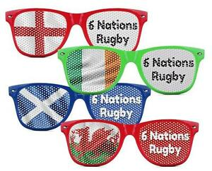 Rugby Union 6 Nation Supporters Sun Glasses Scotland England Ireland Wales