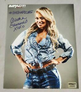 ALISHA EDWARDS Autographed Official IMPACT Wrestling 8x10 Photo w/ Hologram COA