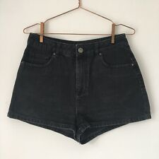 Urban Outfitters BDG Black High Waisted Denim Shorts Size W30
