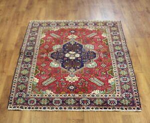 Traditional Vintage Wool Handmade Classic Oriental Area Rug Carpet 158X 112cm