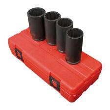 "Sunex 1/2"" Drive 12 Point 4 Piece Metric Deep Spindle Nut Impact Socket Set 2837"