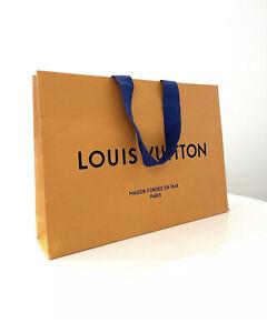NEW LOUIS VUITTON Authentic Paper Shopping Bag Medium Orange SIZE: 11 x 8 x 2.5