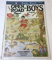 August 1933 OPEN ROAD FOR BOYS ~ swimming boys cover