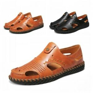 Mens Pumps Loafers Casual Driving Outdoor Flat Slip On Walking Sandals Summer BB