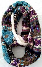 NEW Fleece-lined Snood Purple blue copper black. Aussie design. Winter Warm!!