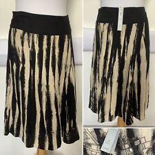 BNWT - Per Una M&S Black Print Skirt - Sz UK 16 RRP £39.50