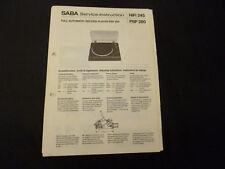Original Service Manual Saba PSP 280